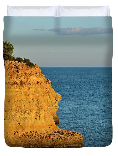 Where Land Ends In Carvoeiro Duvet Cover