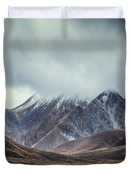 Where Mountains Rise Duvet Cover