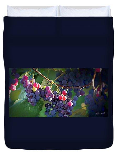 Where The Wine Begins Duvet Cover