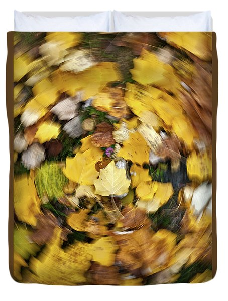 Whirlpool Of Autumn Duvet Cover
