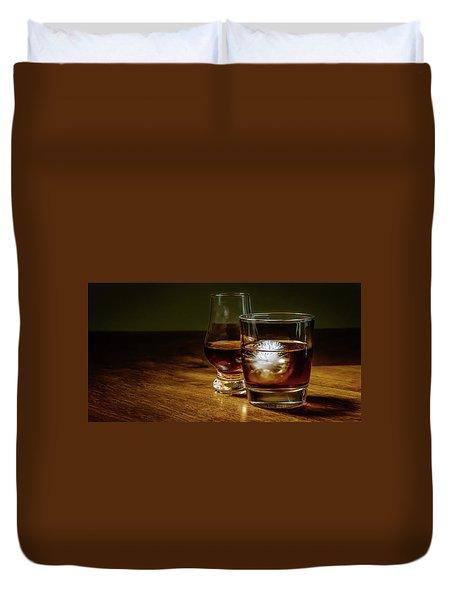 Whisky For Two Duvet Cover