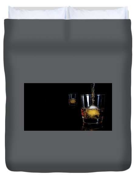 Whisky On Ice For Two Duvet Cover
