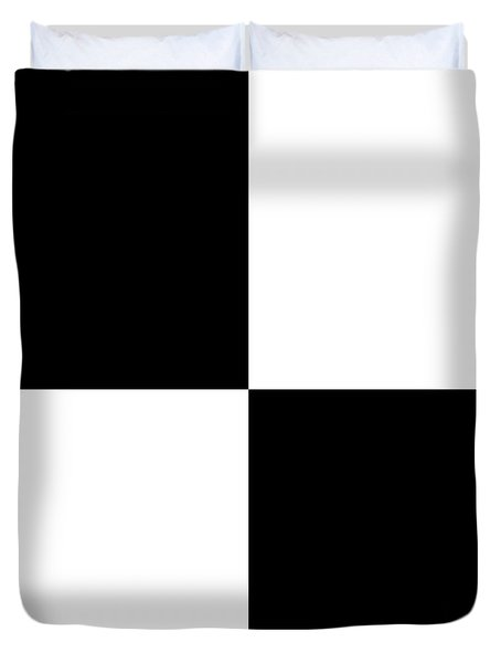 White And Black Squares - Ddh586 Duvet Cover