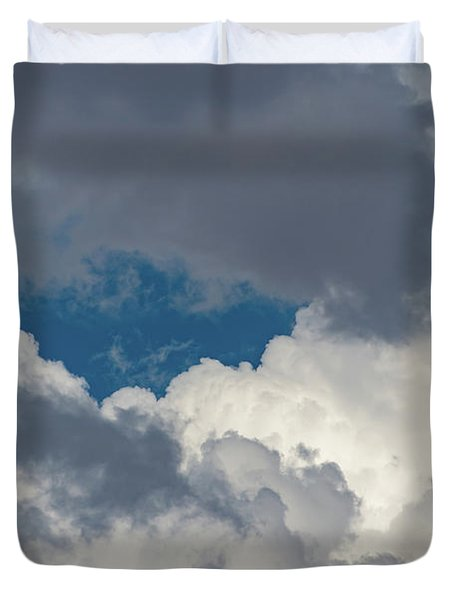 White And Gray Clouds Duvet Cover