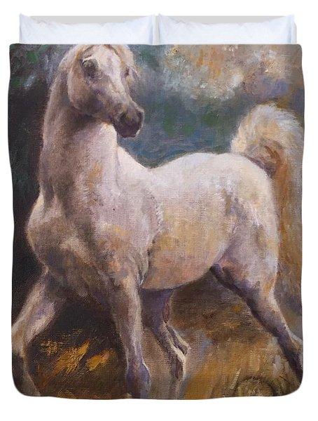 White Arabian Duvet Cover