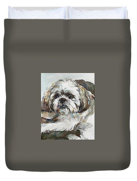 White Dog Duvet Cover