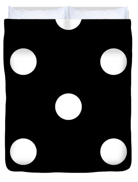 White Dots On A Black Background- Ddh612 Duvet Cover