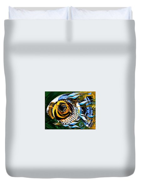 White-headed Mouth Fish Duvet Cover