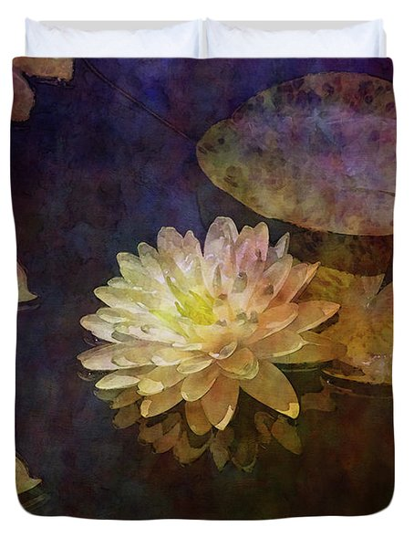 White Lotus Lily Pond 2938 Idp_2 Duvet Cover