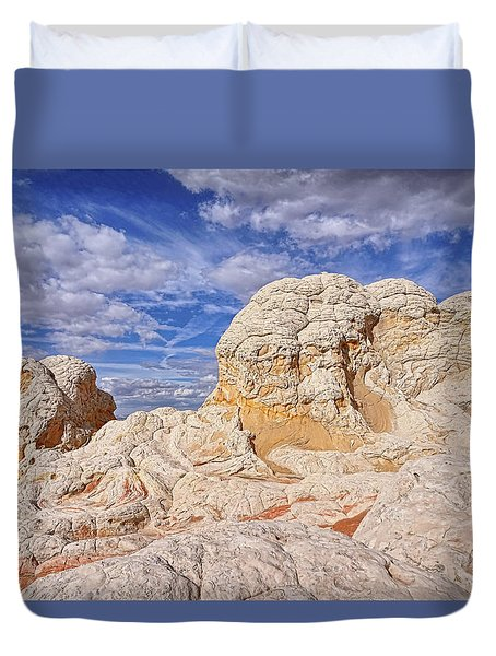 Duvet Cover featuring the photograph White Pocket Scenic by Theo O'Connor
