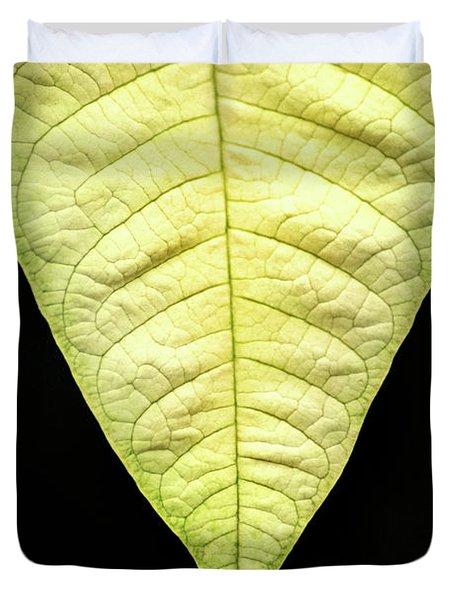 White Poinsettia Leaf Duvet Cover