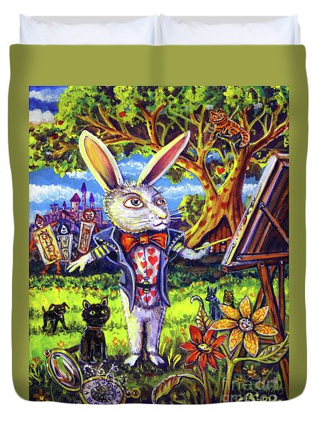 White Rabbit Alice In Wonderland Duvet Cover