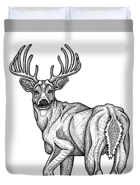 White Tailed Buck Duvet Cover