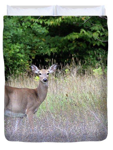 White Tale Deer Duvet Cover