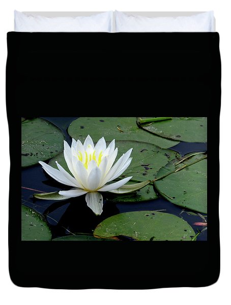 White Water Lilly Duvet Cover