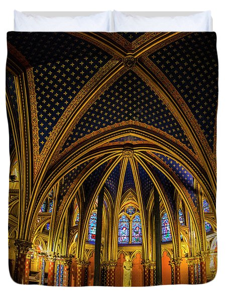 Wide Angle View Of The Lower Chapel Duvet Cover
