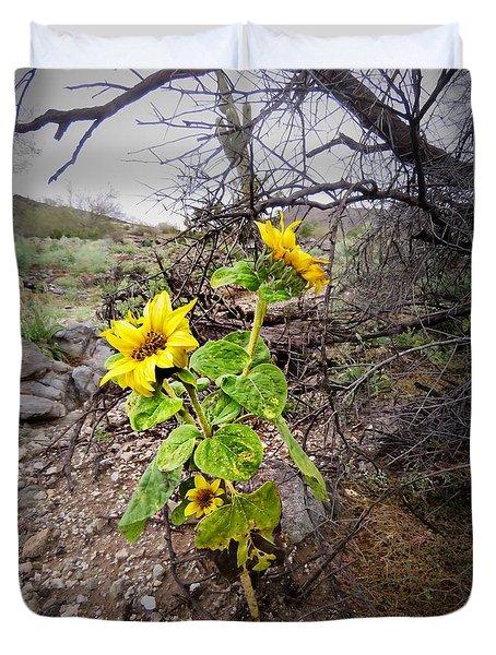 Wild Desert Sunflower Duvet Cover