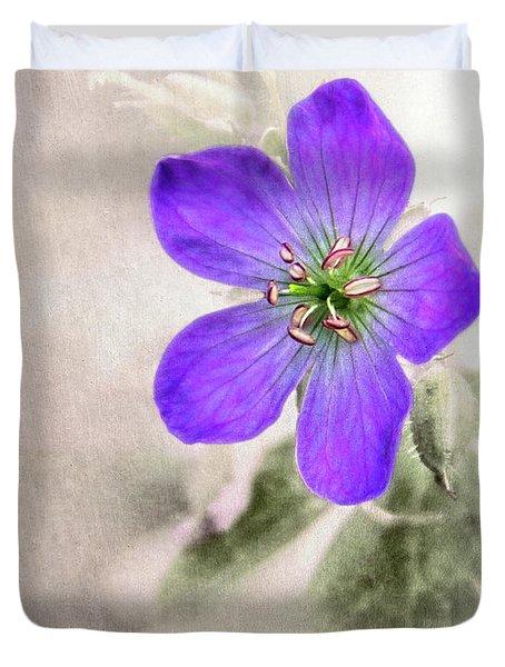 Wild Geranium Duvet Cover