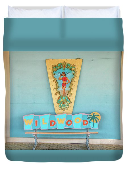 Duvet Cover featuring the photograph Wildwood Days by Kristia Adams