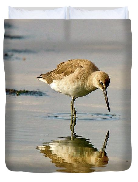 Willet Sees Its Reflection Duvet Cover