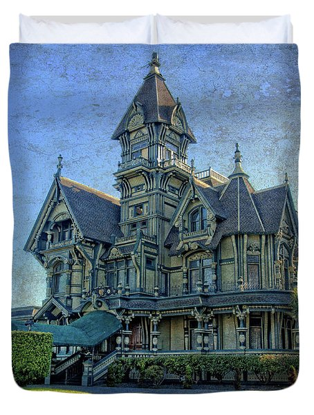 Duvet Cover featuring the photograph William Carson Mansion by Thom Zehrfeld