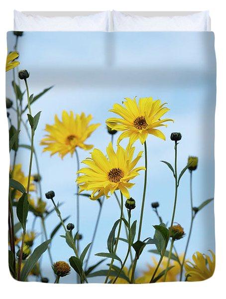 Willow Leaved Sunflower Duvet Cover