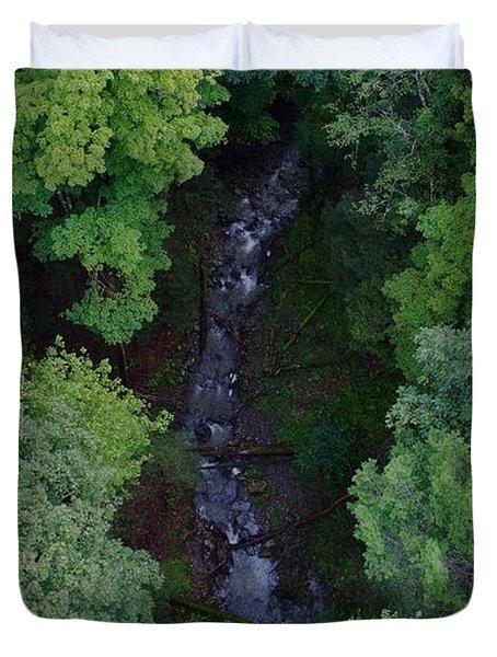 Willow Run Creek Duvet Cover