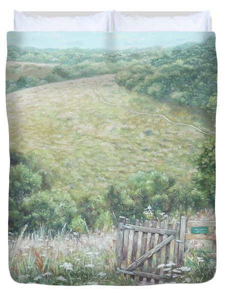Winchester Hill Area In Hampshire During Summer Duvet Cover