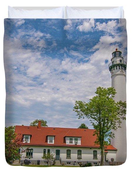 Wind Point Lighthouse  Duvet Cover