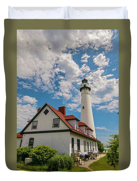 Wind Point Lighthouse No. 2 Duvet Cover