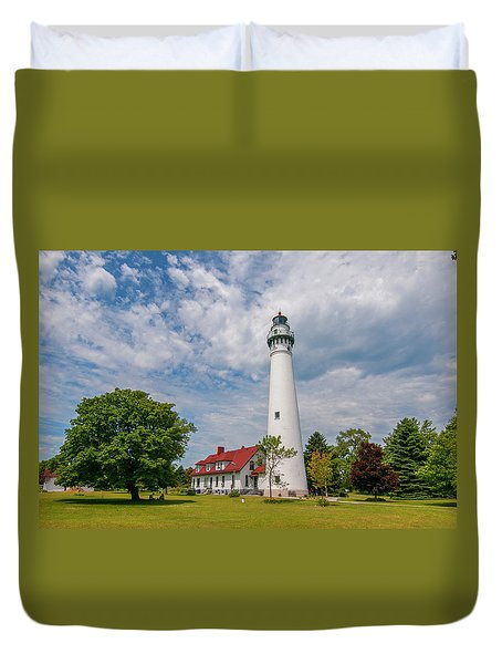 Wind Point Lighthouse No 3 Duvet Cover