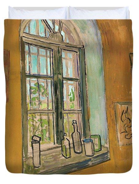 Window In The Studio Duvet Cover