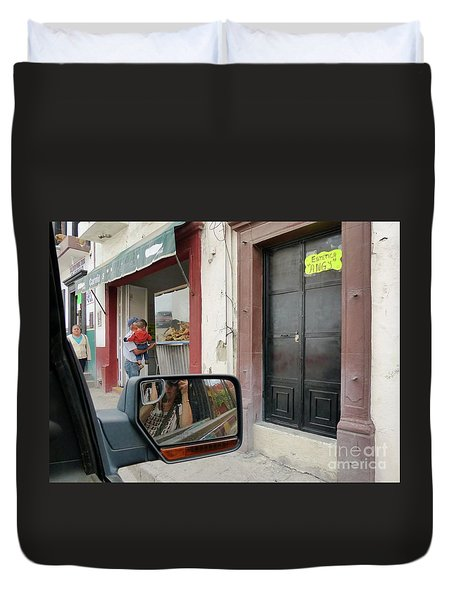 Duvet Cover featuring the photograph Window Shopping  by Rosanne Licciardi