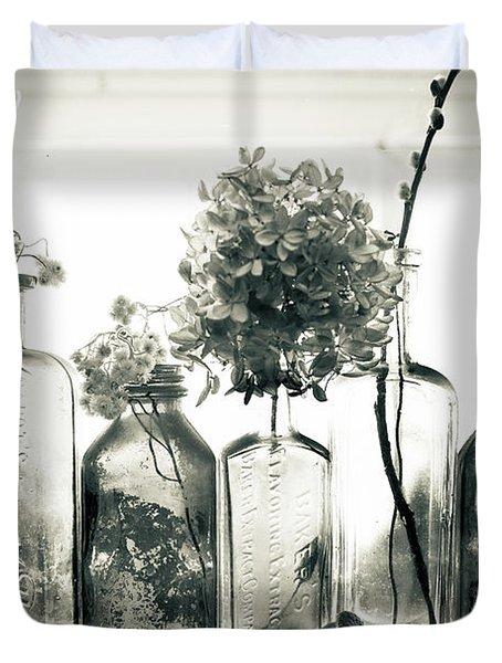 Windowsill Bottles Duvet Cover