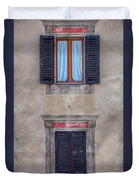 Windows Of Montalcino Duvet Cover