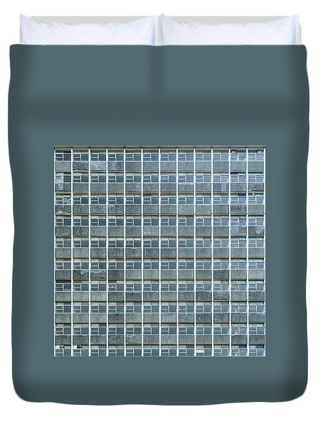 Windows Pattern Modern Architecture Duvet Cover
