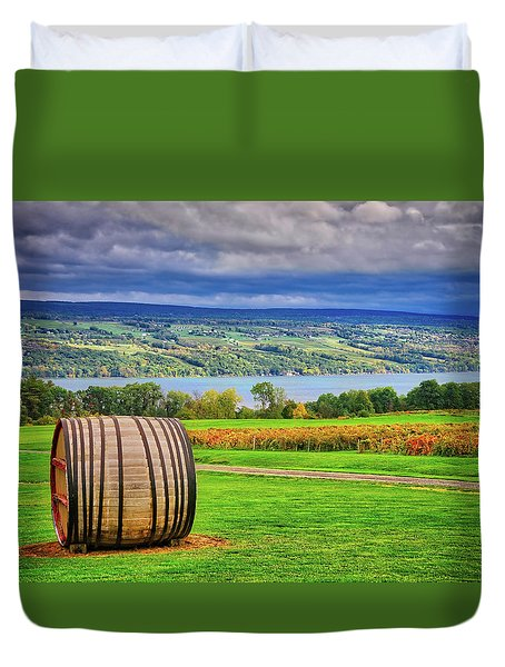 Duvet Cover featuring the photograph Wine Country - Finger Lakes, New York by Lynn Bauer