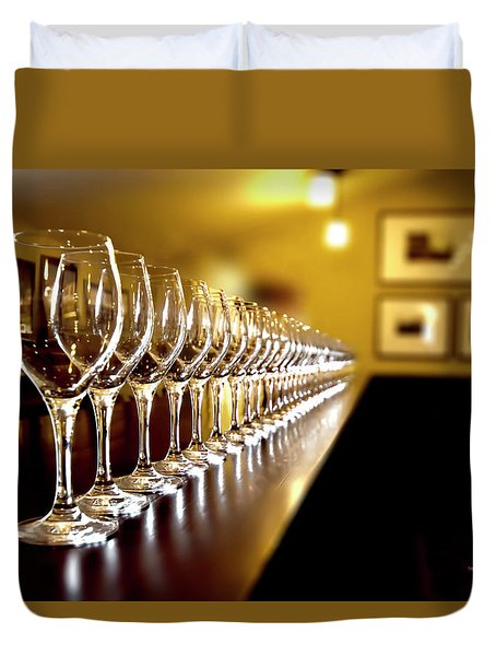Wine Tasting Duvet Cover