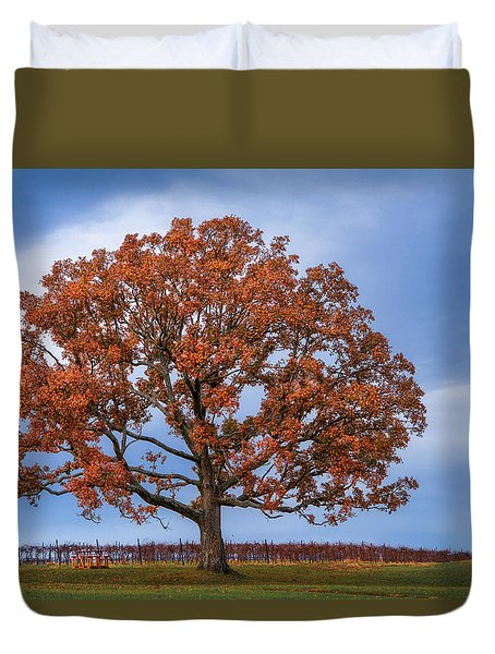 Wine Time Duvet Cover