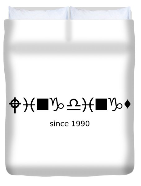 Wingdings Since 1990 - Black Duvet Cover