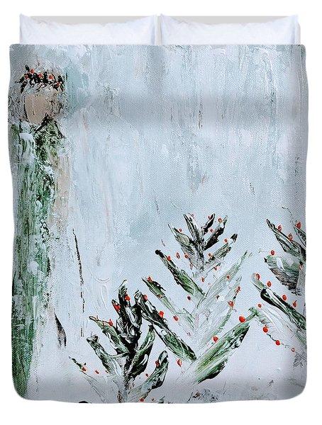Winter Angel Duvet Cover