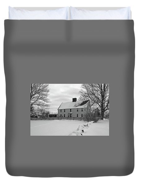 Duvet Cover featuring the photograph Winter At Noyes House by Wayne Marshall Chase