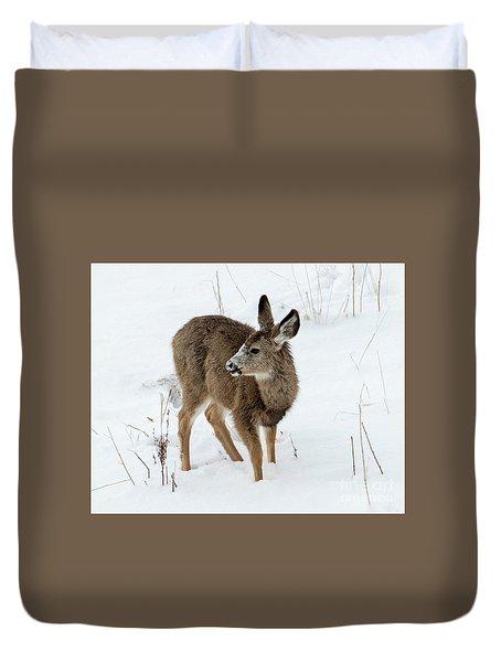 Winter Bambi Duvet Cover