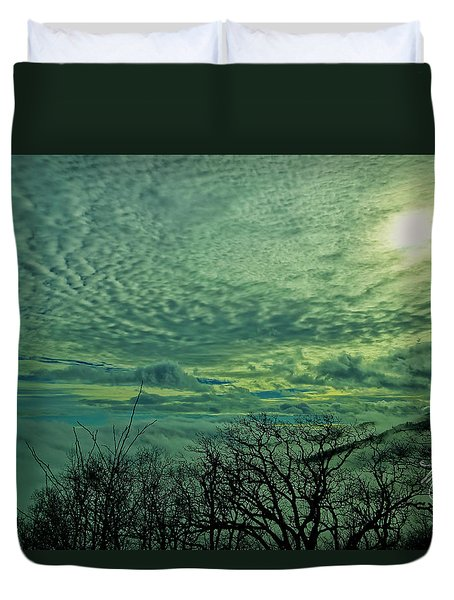 Winter Clouds Duvet Cover