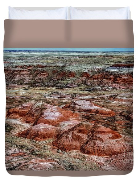 Winter Colors Of The Painted Desert Duvet Cover