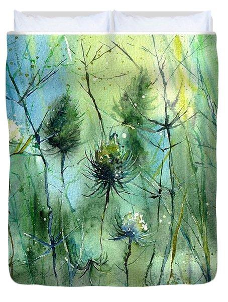 Winter Flowers Duvet Cover