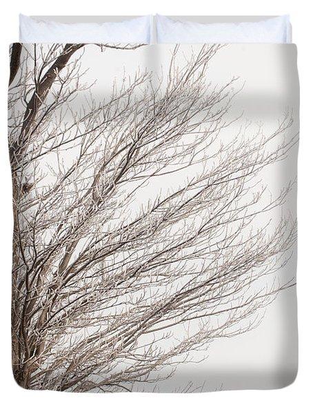 Winter Hoarfrost Duvet Cover