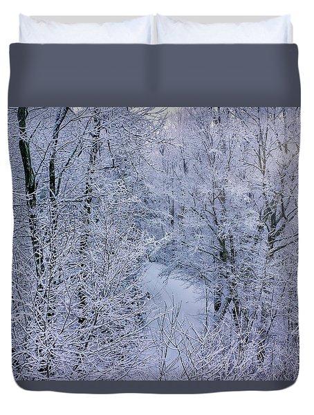 Winter Ice Storm Duvet Cover