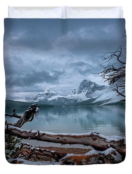 Winter Is Coming Bow Lake Duvet Cover