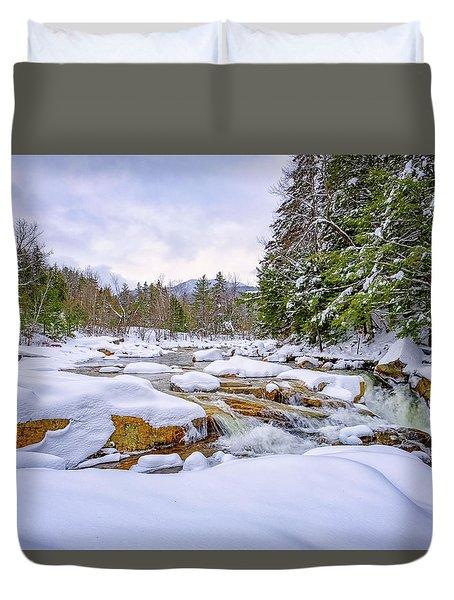 Winter On The Swift River. Duvet Cover
